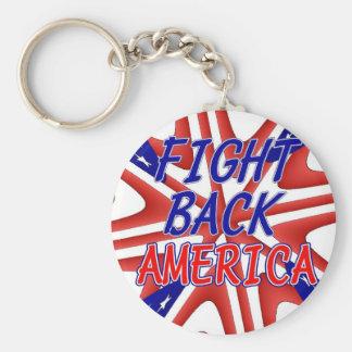 FIGHT BACK AMERICA BASIC ROUND BUTTON KEYCHAIN