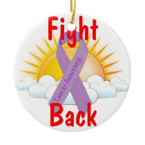 Fight Back Cancer Awareness Ceramic Ornament