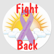 Fight Back Cancer Awareness Classic Round Sticker