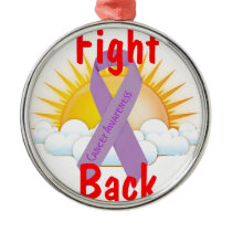Fight Back Cancer Awareness Metal Ornament
