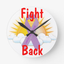 Fight Back Cancer Awareness Round Clock