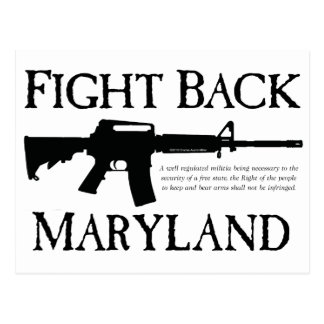 FIGHT BACK MARYLAND POST CARD