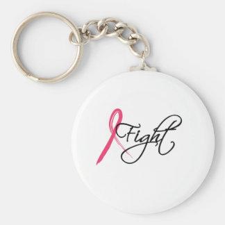fight basic round button keychain