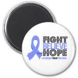 Fight Believe Hope - Esophageal Cancer Refrigerator Magnet
