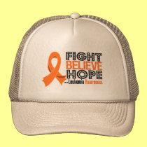 Fight Believe Hope - Leukemia Trucker Hat