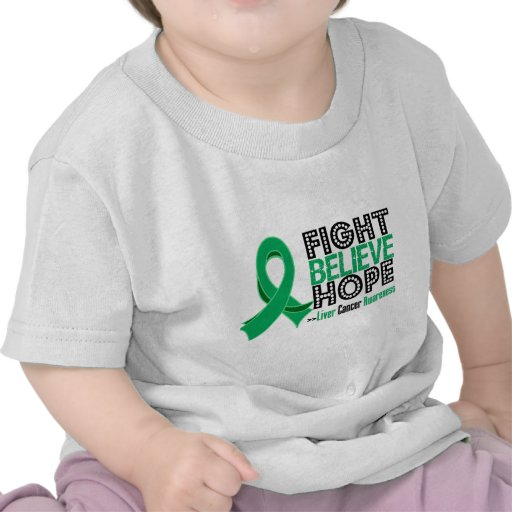Fight Believe Hope - Liver Cancer Tees