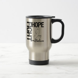 Fight Believe Hope v2 Bone Cancer 15 Oz Stainless Steel Travel Mug