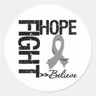Fight Believe Hope v2 Brain Cancer Sticker