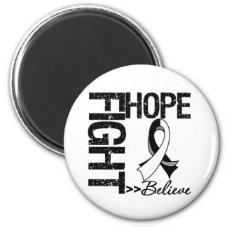Fight Believe Hope v2 Carcinoid Cancer 2 Inch Round Magnet