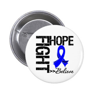 Fight Believe Hope v2 Colon Cancer 2 Inch Round Button