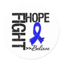 Fight Believe Hope v2 Colon Cancer Classic Round Sticker