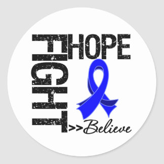 Fight Believe Hope v2 Colon Cancer Classic Round Sticker
