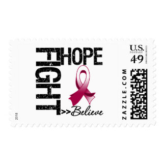 Fight Believe Hope v2 Head and Neck Cancer Stamps