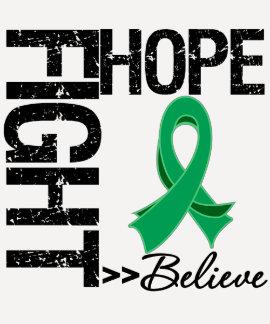 Fight Believe Hope v2 Liver Cancer T-Shirt