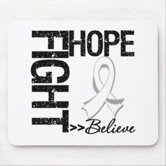 Fight Believe Hope v2 Lung Cancer Mouse Pad