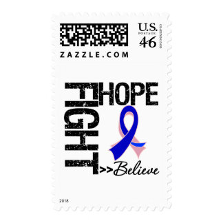 Fight Believe Hope v2 Male Breast Cancer Postage