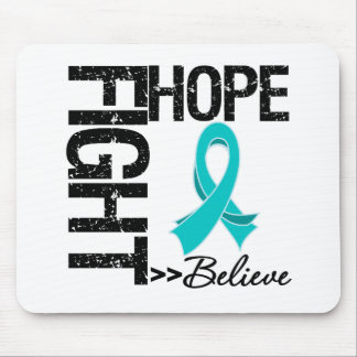 Fight Believe Hope v2 Ovarian Cancer Mouse Pad