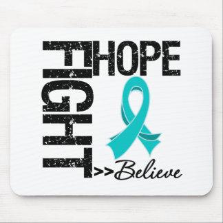 Fight Believe Hope v2 Ovarian Cancer Mousepads