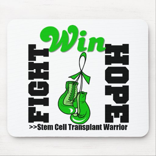 Fight Believe Win Stem Cell Transplant Warrior Mouse Pad