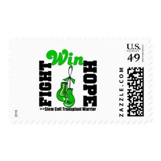 Fight Believe Win Stem Cell Transplant Warrior Postage Stamp