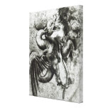 Fight between a Dragon and a Lion Gallery Wrapped Canvas