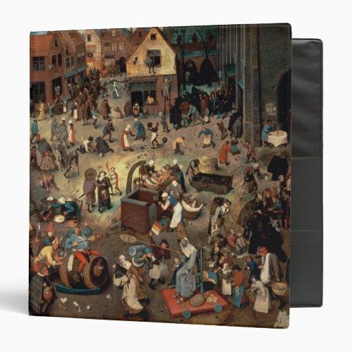 Fight between Carnival and Lent, 1559 Vinyl Binders