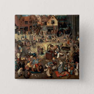 Fight between Carnival and Lent, 1559 Button