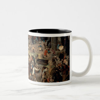 Fight between Carnival and Lent, 1559 Two-Tone Coffee Mug