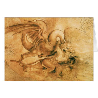 FIGHT BETWEEN DRAGON AND LION CARD