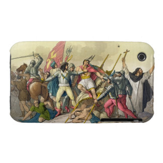 Fight Between Local Indians and Conquistadors (col iPhone 3 Cases