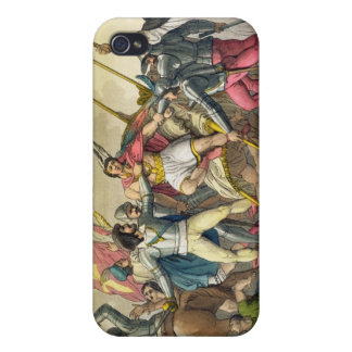 Fight Between Local Indians and Conquistadors (col iPhone 4 Cover