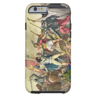 Fight Between Local Indians and Conquistadors col iPhone 6 Case