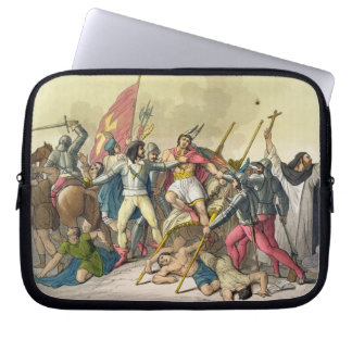 Fight Between Local Indians and Conquistadors (col Laptop Sleeve