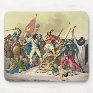 Fight Between Local Indians and Conquistadors (col Mouse Pad