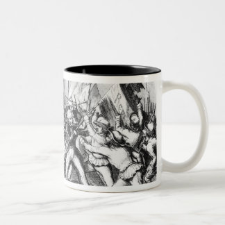 Fight between the Republicans & Parliament Two-Tone Coffee Mug