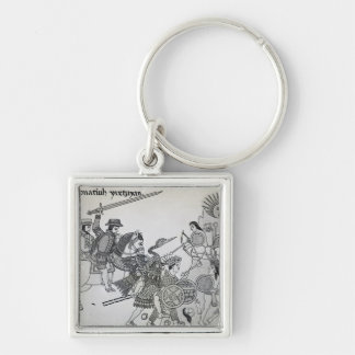 Fight between the Spanish and the Aztecs Keychain