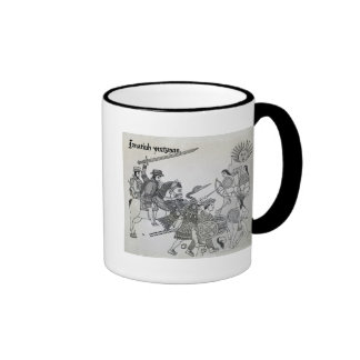 Fight between the Spanish and the Aztecs Coffee Mugs