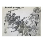 Fight between the Spanish and the Aztecs Postcard