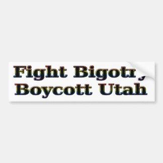 Fight Bigotry, Boycott Utah Car Bumper Sticker