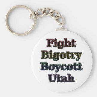 Fight Bigotry, Boycott Utah Keychain