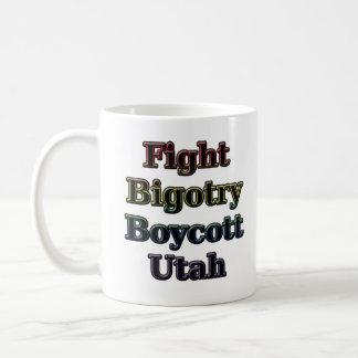 Fight Bigotry Classic White Coffee Mug