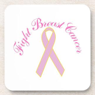 Fight Breast Cancer Beverage Coaster