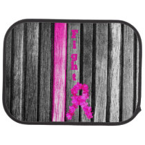 Fight Breast Cancer Car Mat