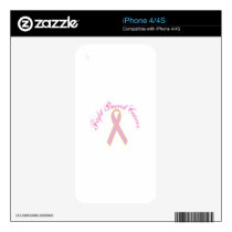 Fight Breast Cancer Decal For iPhone 4S