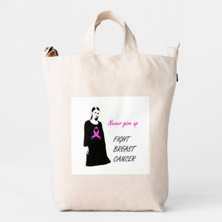 Fight breast cancer duck bag