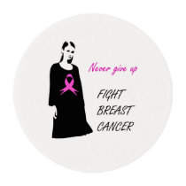 Fight breast cancer edible frosting rounds