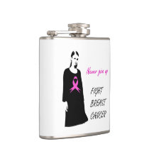 Fight breast cancer flask