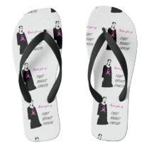 Fight breast cancer flip flops