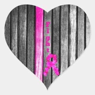 Fight Breast Cancer Heart Sticker
