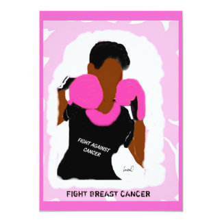 FIGHT BREAST CANCER invitation
